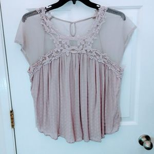 Maurices Floral Lace Blouse Size 0
